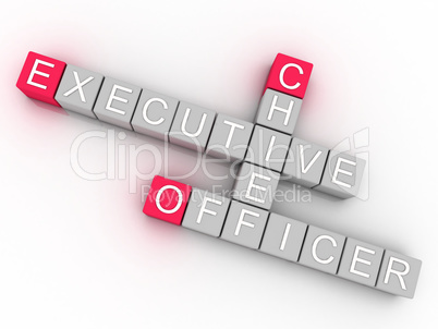 3d imagen CEO  issues concept word cloud background