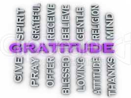 3d image Gratitude issues concept word cloud background