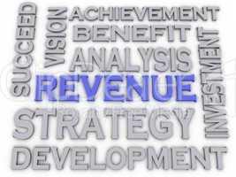 3d imagen Revenue  issues concept word cloud background