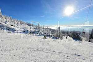 Winterlandschaft Ski Alpine Skilift