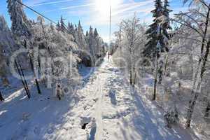 Winterlandschaft Ski fahren