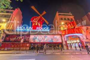 PARIS - JUNE 14, 2014: The Moulin Rouge cabaret in Paris, France