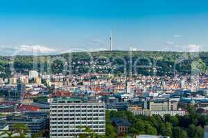 Scenic rooftop view of Stuttgart, Germany