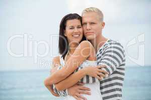 Loving couple enjoy a quiet tender moment