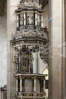 pulpit in Saint Barbara Church