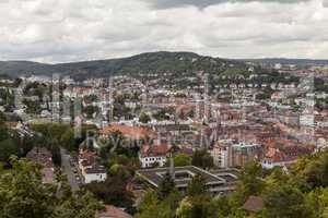 Scenic rooftop view of Stuttgart, Germany