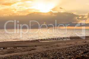 baltic sea background evening wooden wave breaker beach