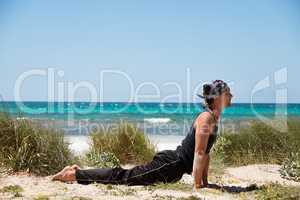 adult healthy man doing pilates yoga exercise