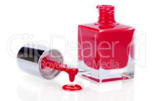 Modern stylish red nail varnish or lacquer