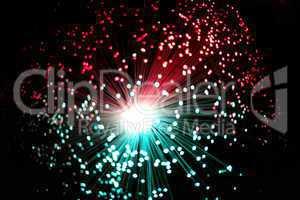 Cool Ends of Illuminated Fiber Optic Strands