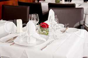 tables in restaurant decoration tableware empty dishware