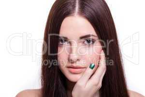 Beautiful serene woman with a gentle expression