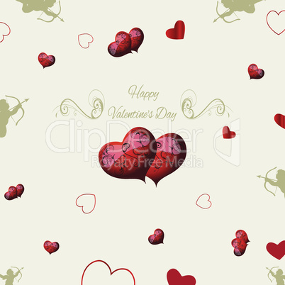 background in vintage style for the congratulations of lovers