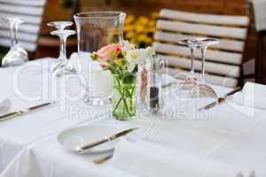 table in restaurant tableware glass banquet summer