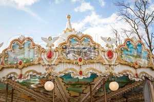 Ornate carousel or merry-go-round