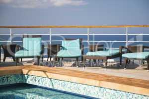 Cruise Ship Lounge Chairs And Pool Abstract