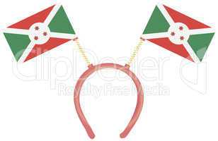 Witty headdress flags Burundi