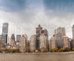 Midtown Manhattan skyline from East River - New York City