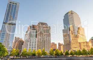 NEW YORK CITY - JUNE 12: Overview of the 9/11 memorial site at t