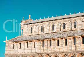 Pisa, Tuscany. Detail of Cathedral in Square of Miracles