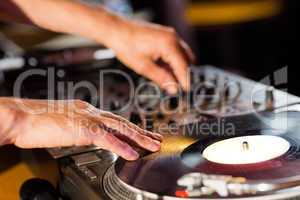 Cool dj spinning the decks