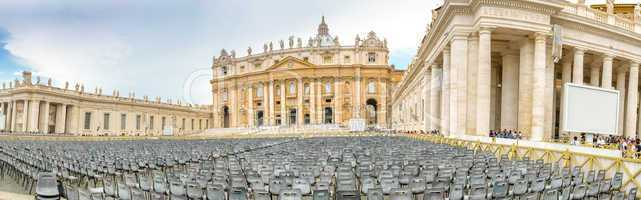 Panoramic view of St. Peter Square, Vatican City