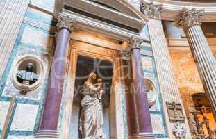 ROME, ITALY - JUNE 14, 2014: Interior of Pantheon in Rome, Italy