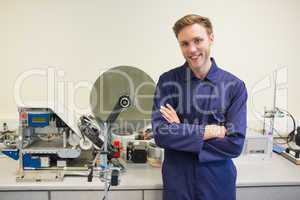 Engineering student smiling at camera