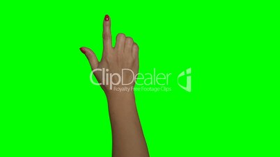 Frau Greenscreen Hand (4:2:2, 30p)
