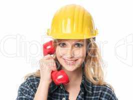 Handwerker am Telefon