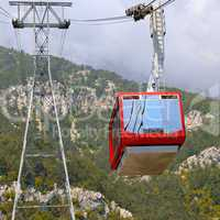 Gondola in the Rocky Mountains