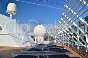 oberes deck am schiff