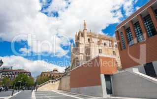 St. Geromimo Royal church on a spring day, Madrid