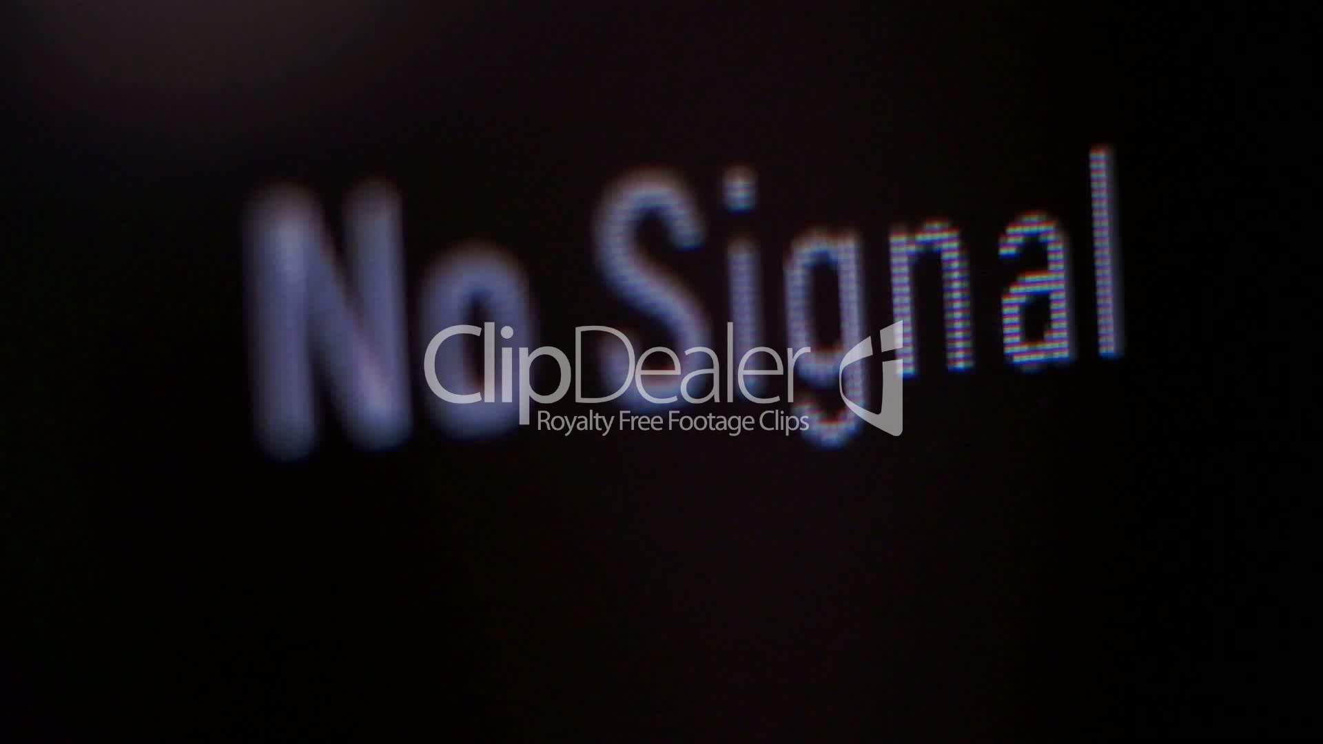 LCD No Signal Macro: Royalty-free video and stock footage