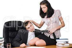Boss and him secretary
