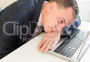 Geschäftsmann hat Stress