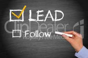 Lead instead follow - Business Concept