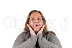 Frau mit einer Gestik