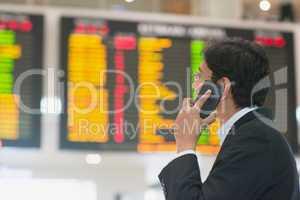 Checking flight timetable