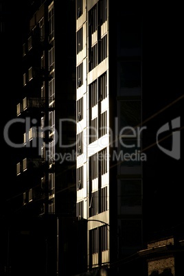 Apartment block at dusk 2