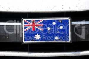 Australian flag on bumper