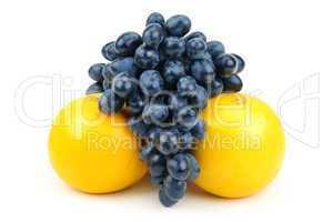 Grapes and grapefruit