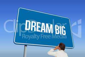 Dream big against bright blue sky