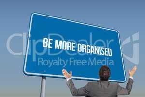 Be more organised against blue sky