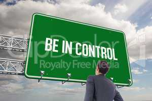 Be in control against sky