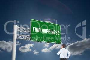 Find happiness against sky