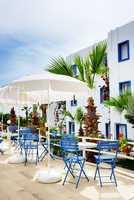 The terrace at luxury hotel, Bodrum, Turkey