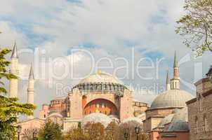 Beautiful view of Hagia Sophia museum, Istanbul