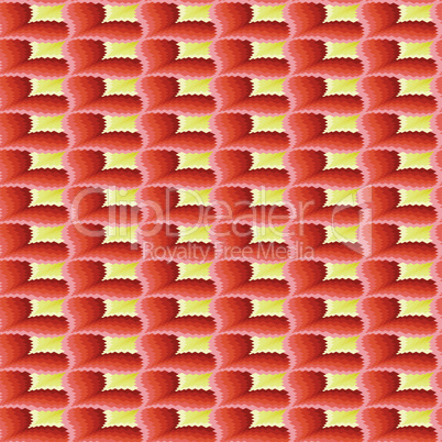 Terracotta and yellow ornamental seamless pattern