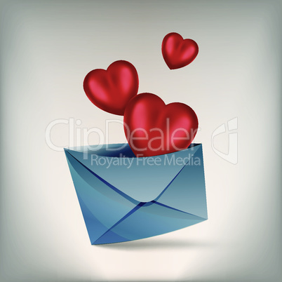 hearts and envelope